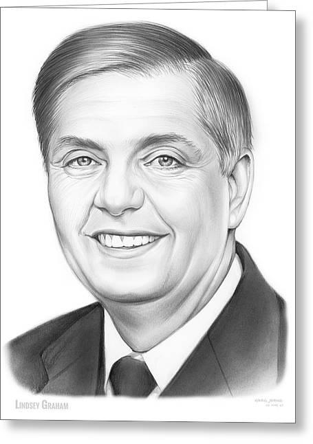 Senator Lindsey Graham Greeting Card by Greg Joens