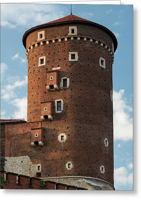 Senatorska Tower Of Wawel Castle Poland Greeting Card