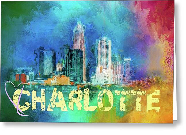 Sending Love To Charlotte Greeting Card by Jai Johnson