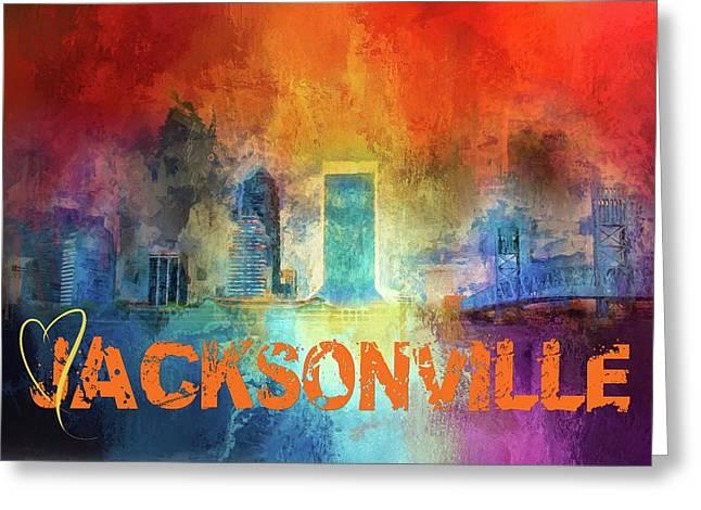 Sending Love To Jacksonville Greeting Card