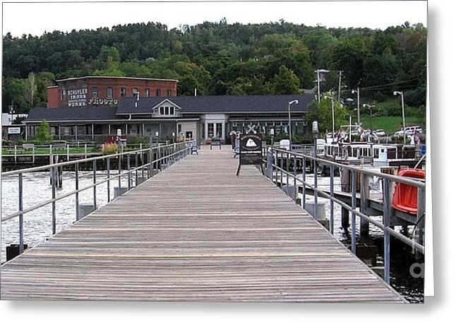 Seneca Lake Pier Watkins Glen New York Greeting Card