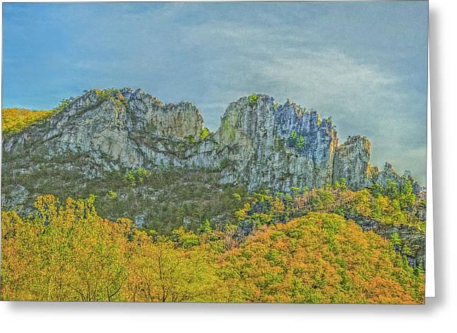 Greeting Card featuring the photograph Seneca Rock West Virginia by David Waldrop