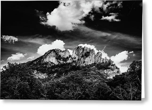 Greeting Card featuring the photograph Seneca Rocks II by Shane Holsclaw