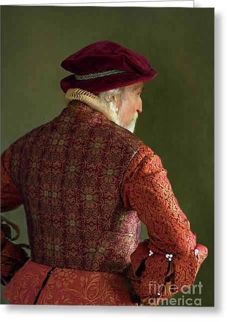 Senior Tudor Man Greeting Card by Lee Avison