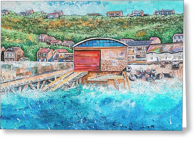 Sennen Cove Greeting Card by Diane Griffiths
