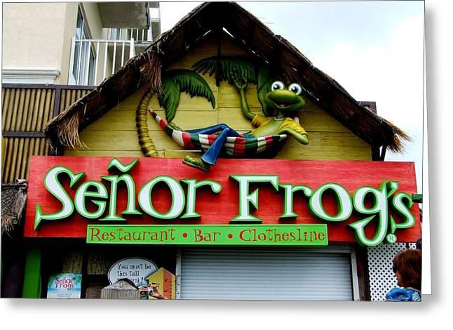 Senor Frogs Greeting Card