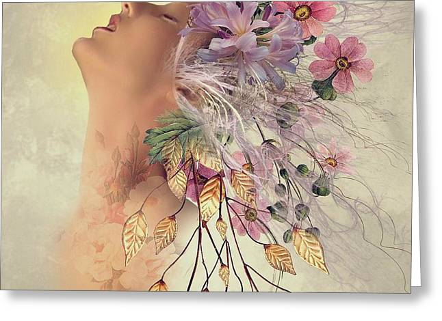Sensual Flowers Greeting Card by Ali Oppy