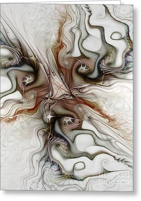 Greeting Card featuring the digital art Sensuality by Karin Kuhlmann