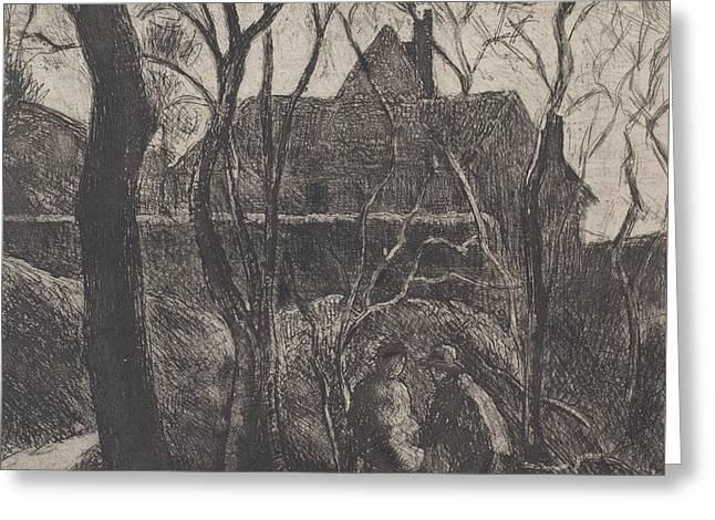 Sentier Des Pouilleux  Pontoise  Greeting Card by Camille Pissarro