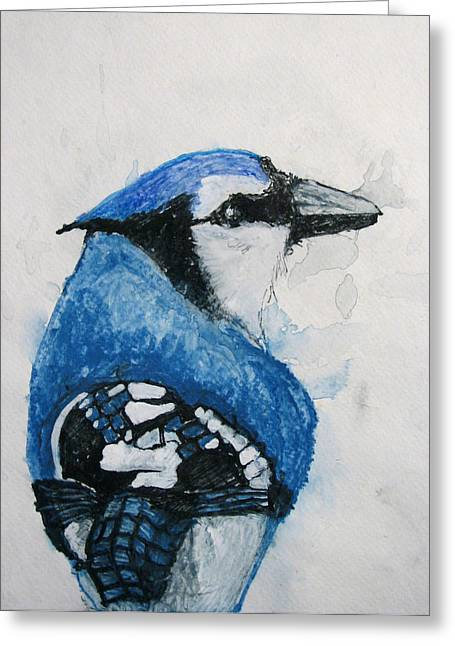 Sentimental Blue Greeting Card by Patricia Arroyo