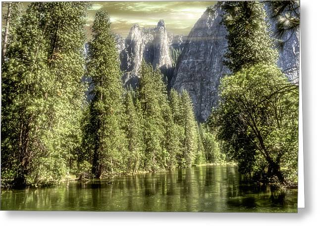 Greeting Card featuring the photograph Sentinal Rocks by Michael Cleere