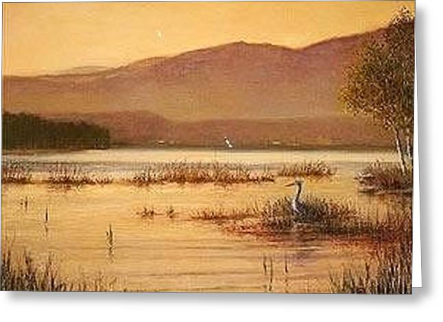 Sentinel At Ausable Pt. Greeting Card by David Olander