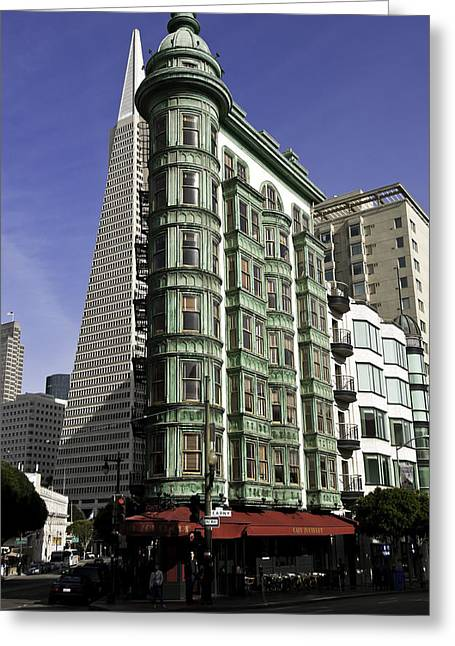 Sentinel Building San Francisco Greeting Card by Paul Plaine