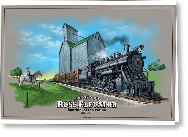 The Ross Elevator Sentinel Of The Plains Greeting Card by Scott Ross