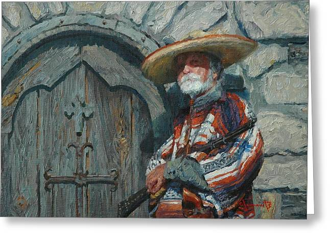 Sentry Greeting Card by Jim Clements