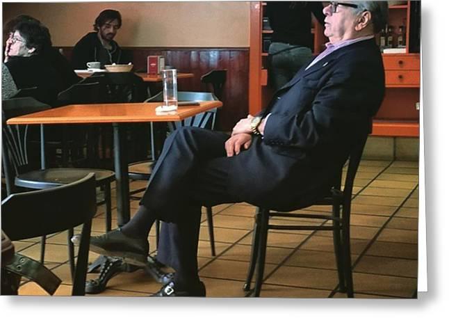 Señor #bar #portrait  #man Greeting Card by Rafa Rivas