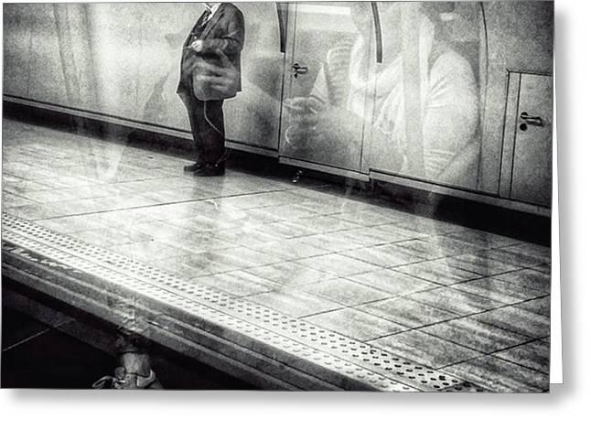 Señor #metro #underground #subway Greeting Card by Rafa Rivas