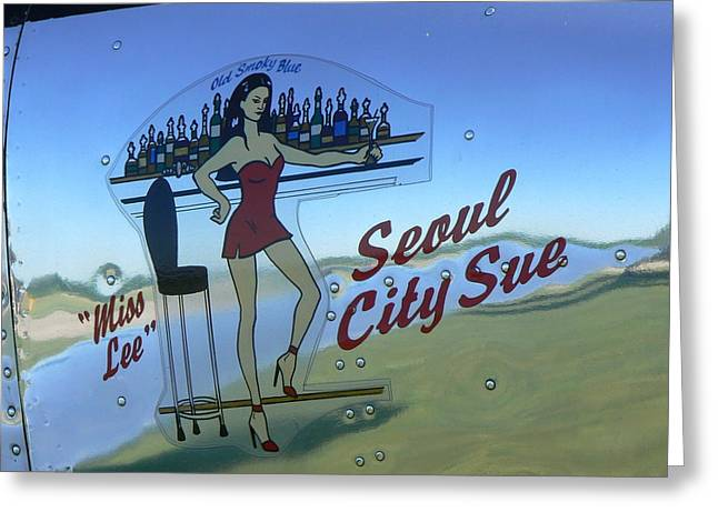 Seoul City Sue Greeting Card by Ron Hayes
