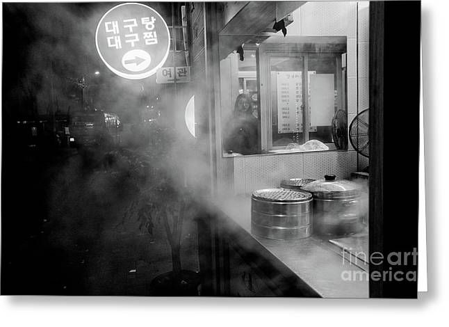 Greeting Card featuring the photograph Seoul Steam by Dean Harte