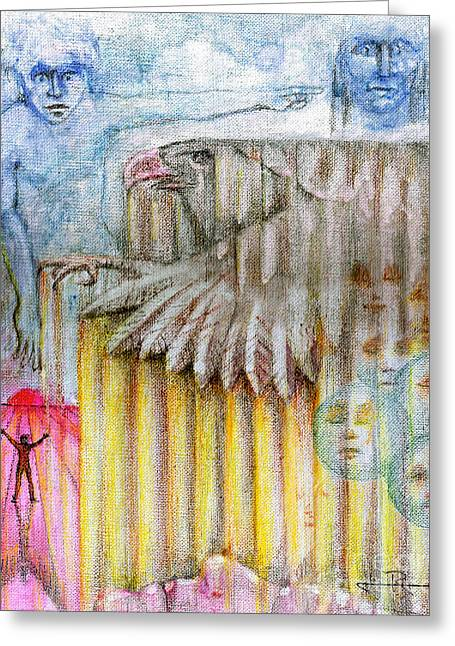 Separate Reality 3 Greeting Card by Jim Rehlin