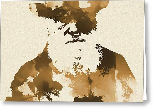 Sepia Abstract Darwin Greeting Card