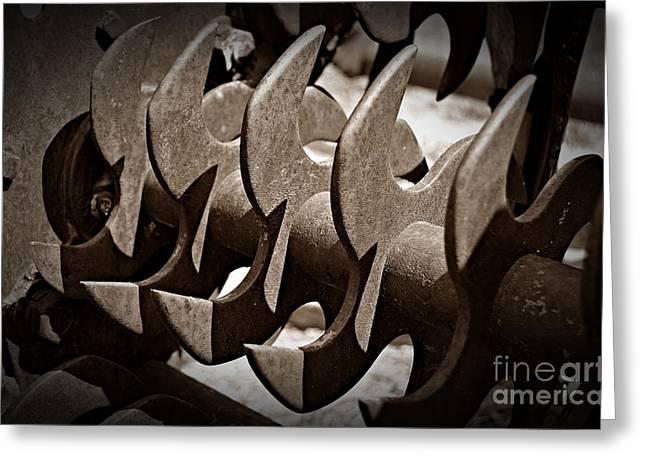 Sepia Blades Greeting Card