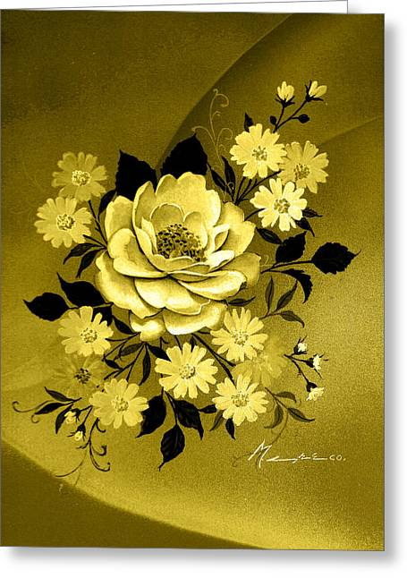 Sepia Bouquet Greeting Card