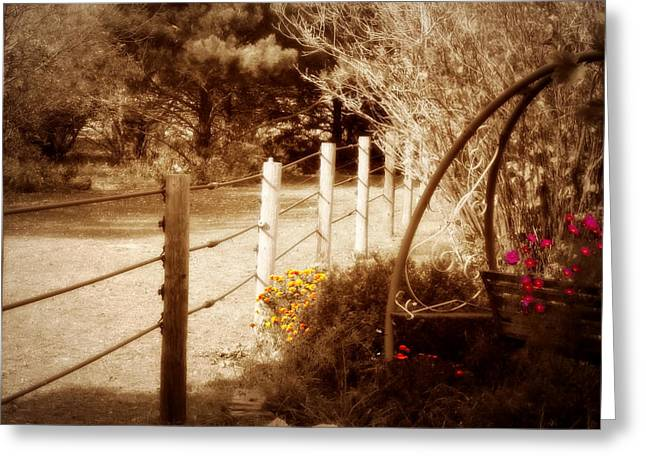Sepia Garden Greeting Card