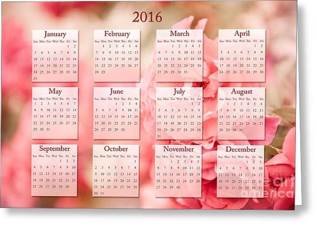 Sepia Roses 2016 Calendar Greeting Card