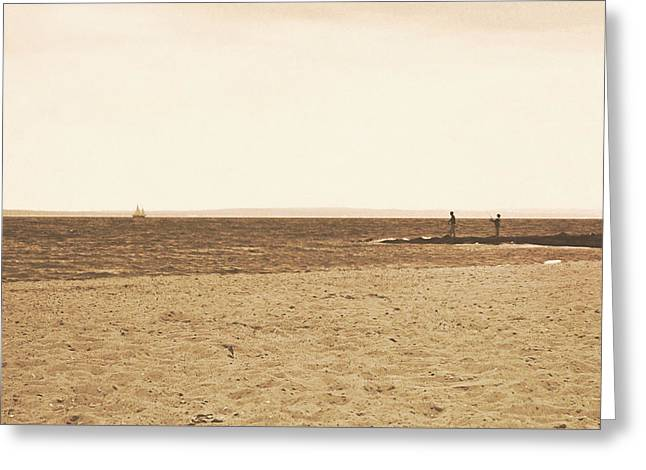 Sepia Sands Greeting Card by JAMART Photography