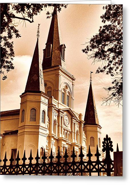 Sepia St. Louis Cathedral Greeting Card