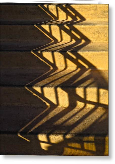 Sepia Stair Abstract Greeting Card