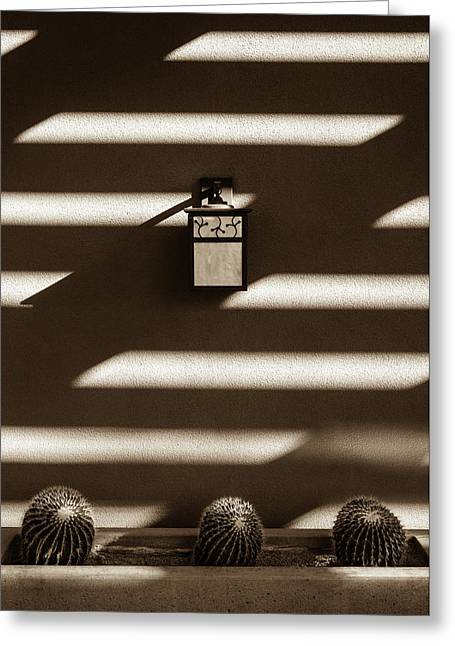 Sepia Stucco Shadows Greeting Card