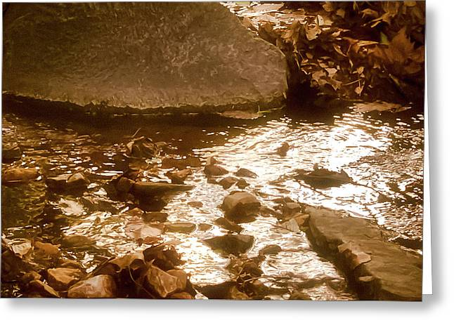 Sepia Sunlight Greeting Card by Michael Putnam