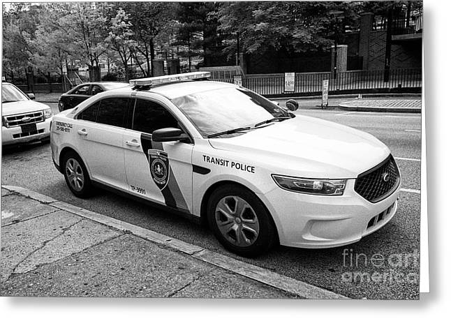 septa southeastern pennsylvania transit authority transit police ford cruiser patrol car Philadelphi Greeting Card