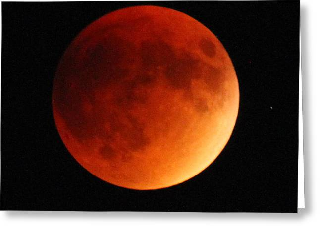 September 27 Blood Moon Greeting Card by Adam Jewell