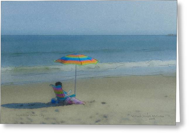 September Beach Reader Greeting Card