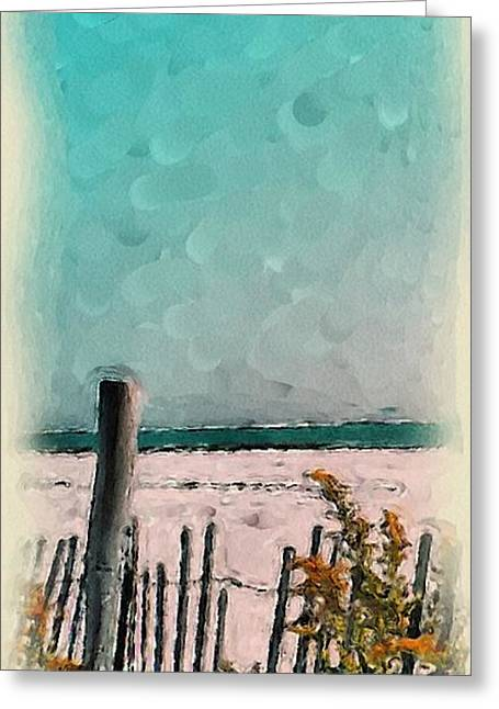 Quite Paintings Greeting Cards - September Beach Greeting Card by Susan Fisher