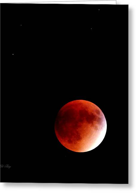 September Bloodmoon 2015 Greeting Card