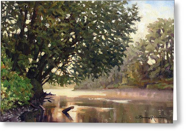 September Dawn Little Sioux River - Plein Air Greeting Card