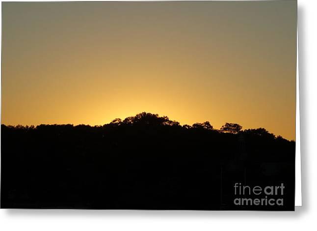 September Evening Sun Greeting Card by Gina Sullivan