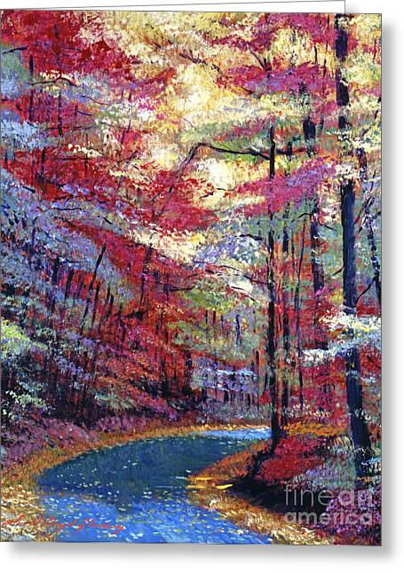 Fallen Leaf Greeting Cards - September Impressions Greeting Card by David Lloyd Glover
