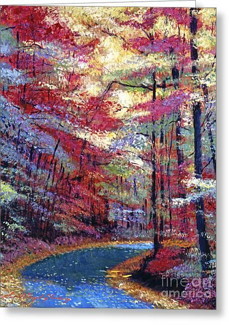 September Impressions Greeting Card by David Lloyd Glover