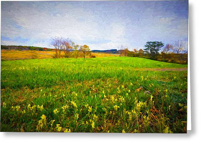 September Landscape Greeting Card by Lilia D