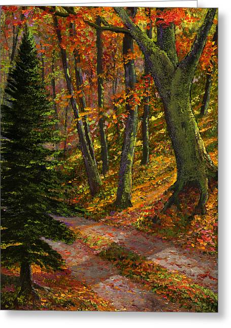 September Road Greeting Card by Frank Wilson