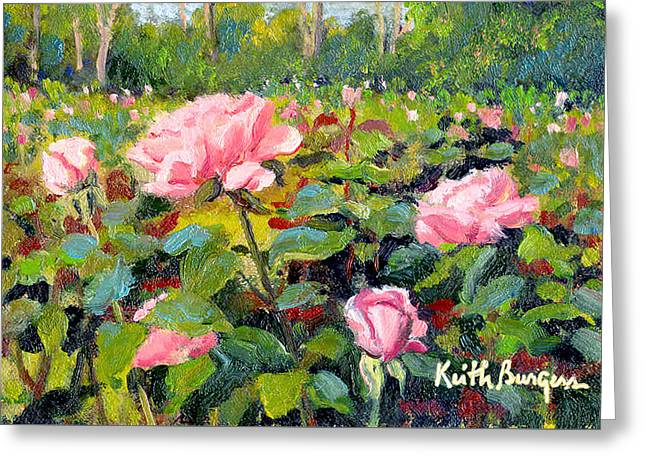 September Roses Greeting Card by Keith Burgess