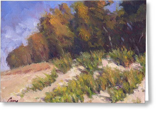 Sand Dunes Paintings Greeting Cards - September Song Greeting Card by Michael Camp