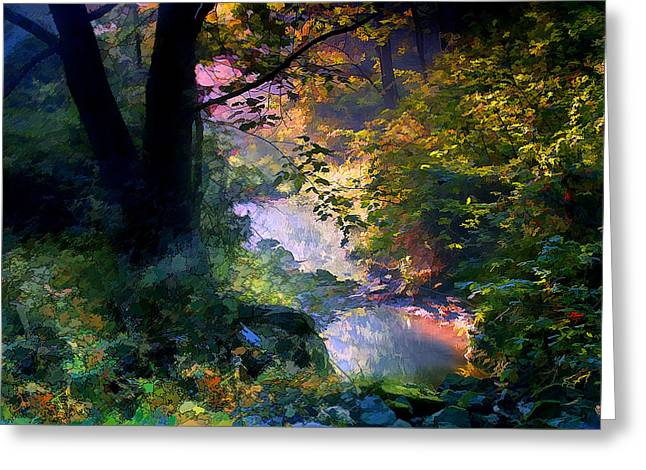 September Stream Greeting Card by Ron Jones