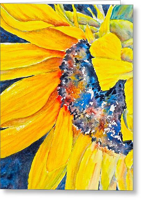 September Sunflower Greeting Card