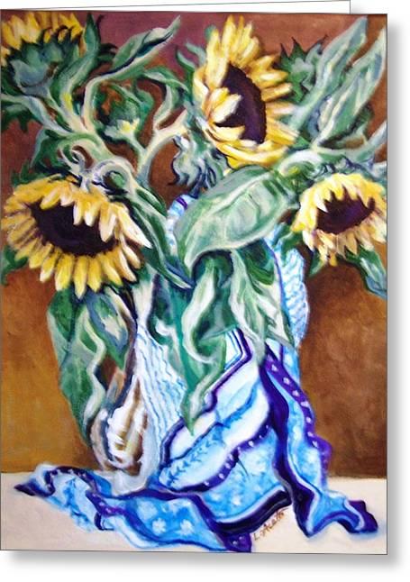 September Sunflowers Greeting Card